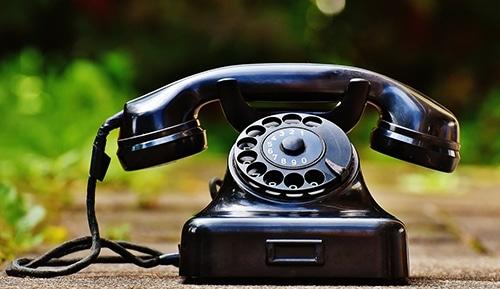 Image de vieux téléphone en exterieur