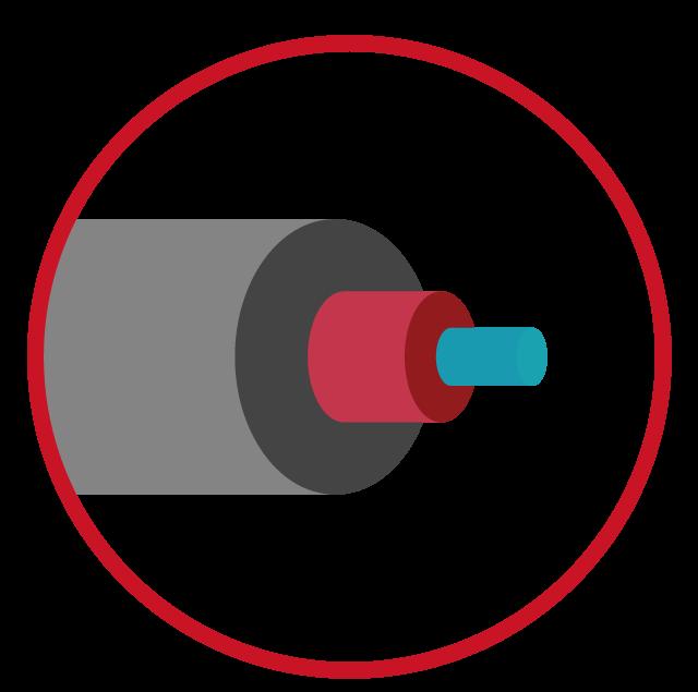 image de fibre optique en picto