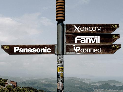 Image de panneau de direction : d'un coté panasonic, de l'autre Ipconnect